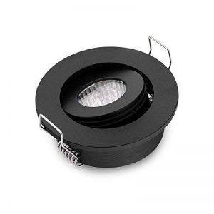 Petit encastrable Spots encastrés LED pilote + Fixations Noir Rond COB 3W 6000K blanc de la marque JOYINLED image 0 produit