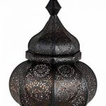 Petite Lanterne marocaine en métal Ziva 30cm noir   Photophore marocain pour l'extérieur au jardin ou l'intérieur sur la table   Lanternes pour bougie   décoration de maison orientale de la marque Marrakesch Orient & Mediterran Interior image 1 produit