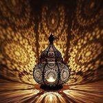 Petite Lanterne marocaine en métal Ziva 30cm noir   Photophore marocain pour l'extérieur au jardin ou l'intérieur sur la table   Lanternes pour bougie   décoration de maison orientale de la marque Marrakesch Orient & Mediterran Interior image 3 produit