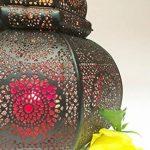 Petite Lanterne marocaine en métal Ziva 30cm noir   Photophore marocain pour l'extérieur au jardin ou l'intérieur sur la table   Lanternes pour bougie   décoration de maison orientale de la marque Marrakesch Orient & Mediterran Interior image 4 produit
