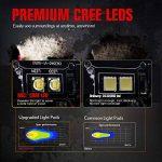 Phare de Travail Flood 20W 2Xpcs MICTUNING Barre LED Cree de 1800LM 6000K Feu de Recul Lampe Auxiliaire à Montage Encastré et Faible Dérive de la marque Mictuning image 4 produit