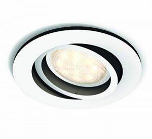 Philips Hue Luminaire télécommandé Spot encastré MILLISKIN Rond Blanc - Fonctionne avec Alexa de la marque Philips Lighting image 0 produit