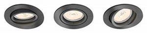 Philips - Set de 3 spots encastrables, modèle : Donegal, culot GU10, forme : ronde, couleur : grise de la marque Philips image 0 produit