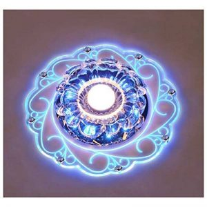 Plafonnier Cristal,LED Cristal Lampe De Plafond,Plafonnier LED Lampe,Plafonnier Cristal Luminaire Est Parfait Pour Les Couloirs, Bureau, Bureau, Salle à Manger, Chambre, Salon,etc. (Bleu couleur) de la marque BIBOTEK image 0 produit