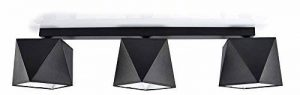 Plafonnier de la marque 299 Deckenlampe 3 Lampenschirm Schwarz de la marque Inconnu image 0 produit