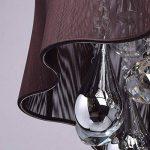 Plafonnier Design Contemporain en Métal couleur Chrome Abat-jour en Fils de Soie Marron décoré de Cristaux pour Salon Chambre 5x40W E14 de la marque MW-Light image 3 produit