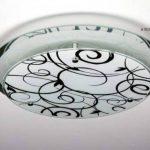 Plafonnier design rond en verre miroir et verre avec motifs floraux de la marque hofstein image 1 produit