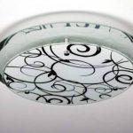 Plafonnier design rond en verre miroir et verre avec motifs floraux de la marque hofstein image 4 produit
