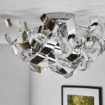 Plafonnier design à spirales chrome de la marque hofstein image 1 produit
