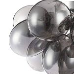 Plafonnier Design, Style Moderne, Armature en Métal couleur Chrome, plafonniers en Verre gris, pour la Cuisine, le Salon, le Séjour, 8 ampoules, lampes halogenes G9 28W ampoules non incluses de la marque MAYTONI DECORATIVE LIGHTING image 2 produit