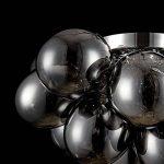 Plafonnier Design, Style Moderne, Armature en Métal couleur Chrome, plafonniers en Verre gris, pour la Cuisine, le Salon, le Séjour, 8 ampoules, lampes halogenes G9 28W ampoules non incluses de la marque MAYTONI DECORATIVE LIGHTING image 4 produit