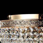 Plafonnier extravagante, avec design élégant de style baroque, rond, сhic, en cristaux, Armature en Métal couleur or, plafonnier en verre mat, pour bas plafond ampoules non incluses E27 6x 60W 220V de la marque MAYTONI DECORATIVE LIGHTING image 3 produit