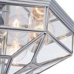 Plafonnier extravagante, avec designe élégant de style tiffany, rond, сhic, en verre, Armature en Métal couleur chrome, pour la chambre ou le salon, pour bas plafond ampoules non incluses E27 x 3 ampoules 60W, 220-240V de la marque MAYTONI DECORATIVE LIGH image 4 produit
