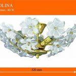 Plafonnier Fleurs Romantique Style Art Nouveau Luminaire Intérieur Dorée/Acrylique 1/4/777 de la marque Rabalux image 1 produit