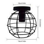 Plafonnier Industrielle Boule Globe de Fer DIY Metal Lustre Vinage Retro pour Salon Chambre Café Bar Restaurent Salle à Manger (3D Globe) (Ampoule non inlcuse) de la marque AZX image 2 produit