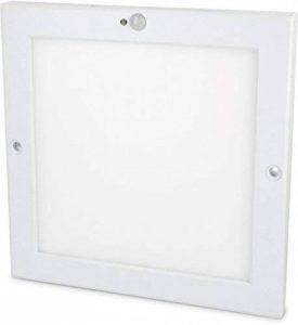 Plafonnier LED (18W) - Utramince - Avec détecteur de mouvement, capteur crépusculaire et transformateur LED intégré., Tagesweiß (4000 K), LED 18.00W 230.00V de la marque HAVA image 0 produit