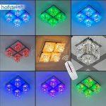 Plafonnier LED 4 spots changement de couleur et télécommande de la marque hofstein image 2 produit