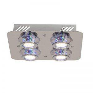 Plafonnier lED 4 spots lED rVB à changement de couleur avec télécommande 4 x 250 lm (blanc chaud) de la marque Lightbox image 0 produit