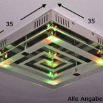 Plafonnier à LED avec variateur de couleurs et télécommande de la marque hofstein image 1 produit