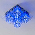 Plafonnier LED à changement de couleur et télécommande de la marque hofstein image 3 produit