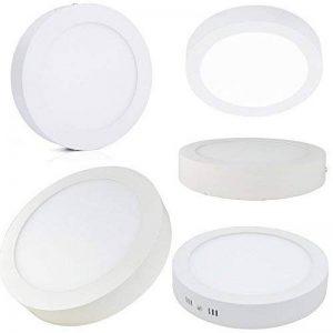 Plafonnier LED de forme ronde en aluminium, blanc 18W = 180W, lumière blanc naturel 40006000K 1350 lumen Fixation grâce aux vis fournies, non encastrable de la marque FuturPrint image 0 produit