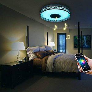 Plafonnier LED Design Chambre 4160 Lumens Lumières Coloré APP Télécommandé avec Enceinte Bluetooth de la marque iLifeSmart image 0 produit