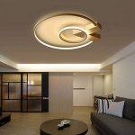 Plafonnier LED Dimmable Design Moderne Plafonnier éclairage plafonnier luminaire de Salon Bar Métal Acrylique Ronde Intérieur Lampe avec télécommande Chambre lampe chambre bureau couloir 49 W de la marque TLX-LAMP image 2 produit