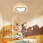 Plafonnier LED Intéressant Petit Singe Design en Acrylique Lampe du Plafond Modern Pour Chambre Enfant Cuisine Salon Balcon Couloir Blanc Chaud D53*5.5cm 40W[Classe énergétique A++] de la marque LFL image 4 produit