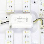 Plafonnier LED moderne à intensité variable en aluminium pour salon, salle de séjour, éclairage moderne par lumière en énergie 48w Dimmbar de la marque WIS image 2 produit