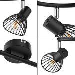 Plafonnier LED orientable Veelicht 3 ampoules LED rondes avec 3 ampoules LED 4 W (E14, 400 lm), lampe de salon I pour salle de séjour, éclairage de salon I à LED de la marque Veelicht image 3 produit