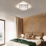 Plafonnier LED Original Forme de Carré Design en Acrylique Lampe du Plafond Modern Pour Chambre Enfant Cuisine Salon Balcon Couloir Blanc Froid Ø43*6cm 30W [Classe énergétique A++] de la marque LFL image 4 produit