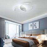 Plafonnier LED Original Forme de Carré Design en Acrylique Lampe du Plafond Modern Pour Chambre Enfant Cuisine Salon Balcon Couloir Dimmable avec Télécommande 86*60*6cm 50W [Classe énergétique A++] de la marque LFL image 4 produit