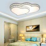Plafonnier LED Original Forme de Coeur Design en Acrylique et Cristal Lampe du Plafond Modern Pour Chambre Enfant Cuisine Salon Balcon Couloir Blanc Froid 66 * 44 * 7CM 32W[Classe énergétique A++] de la marque LFL image 4 produit
