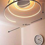 Plafonnier LED Ringos spirale 24 Watt - 1300 Lumen - 3000 Kelvin de la marque hofstein image 1 produit