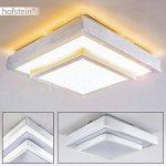 Plafonnier LED Sora sobre et élégant - Luminaire intérieur plafond à la technologie LED - Plafonnier LED aux finitions soignées qui illuminera parfaitement salon, couloir, chambre à coucher de la marque hofstein image 1 produit