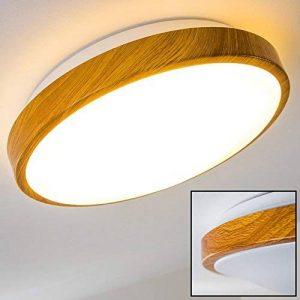 Plafonnier LED SORA WOOD - 900 Lumen -12 Watt - 3000 Kelvin (Bland chaud) de la marque hofstein image 0 produit