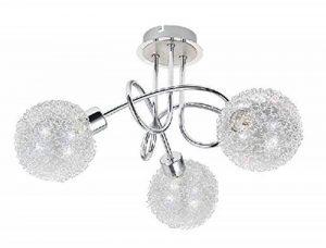 Plafonnier LED Trango, éclairage de salle de bain, de couloir, de cuisine avec ampoule LED 3000K Blanc Chaud TG1002 Moderne 3-flammig de la marque Trango image 0 produit