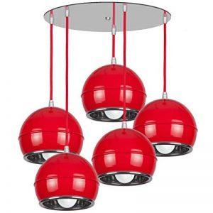 Plafonnier lustre 5 nAPa art lampe deco design moderne Classique rouge de la marque KML image 0 produit