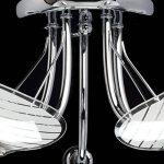 Plafonnier Moderne à 5 Lumières en Métal couleur Chrome avec Abat-jours en Verre Mat et Transparent pour Salon ou Cuisine 5x60W E14 de la marque Demarkt image 4 produit