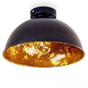 Plafonnier Nome en métal de couleur noir/doré - Luminaire de plafond pour salon - séjour - chambre à coucher - cuisine de la marque HOFSTEIN image 0 produit