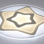 Plafonnier Ronde LED Original Forme d'étoile Design en Acrylique Lampe du Plafond Modern Pour Chambre Enfant Cuisine Salon Balcon Couloir Blanc Froid D63*5.5cm 50W [Classe énergétique A++] de la marque LFL image 1 produit