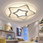Plafonnier Ronde LED Original Forme d'étoile Design en Acrylique Lampe du Plafond Modern Pour Chambre Enfant Cuisine Salon Balcon Couloir Blanc Froid D63*5.5cm 50W [Classe énergétique A++] de la marque LFL image 2 produit