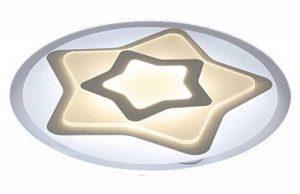 Plafonnier Ronde LED Original Forme d'étoile Design en Acrylique Lampe du Plafond Modern Pour Chambre Enfant Cuisine Salon Balcon Couloir Blanc Froid D63*5.5cm 50W [Classe énergétique A++] de la marque LFL image 0 produit