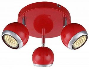 Plafonnier rouge, 3xGU10 LED de la marque Globo image 0 produit