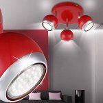 Plafonnier rouge, 3xGU10 LED de la marque Globo image 2 produit