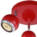 Plafonnier rouge, 3xGU10 LED de la marque Globo image 3 produit