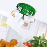 Plafonnier soccer LED, Ø 31 cm, 3x 2.5W GU10 LED incl., 3x 250 lumens, 3000K blanc chaud, métal, blanc/vert/noir-blanc de la marque Lightbox image 1 produit