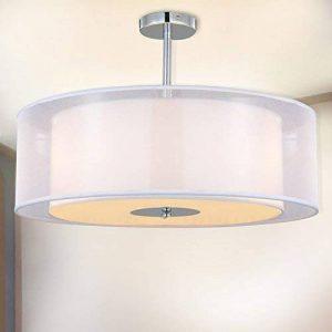 Plafonnier Suspensions moderne, SPAKRSOR Lustre avec abat-jour Textile, 50 cm de diamètre, 3 x E27 Lampe de la marque SPARKSOR image 0 produit