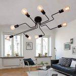 Plafonnier Ventilateur Moderne Industriel Design Lustre Luminaire Plafonnier 8 Lampe de suspension Métal Noir E27 Pour Enfant Chambre Cuisine Salon Couloir Loft de la marque CARYS image 3 produit