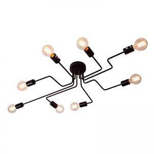 Plafonnier Ventilateur Moderne Industriel Design Lustre Luminaire Plafonnier 8 Lampe de suspension Métal Noir E27 Pour Enfant Chambre Cuisine Salon Couloir Loft de la marque CARYS image 0 produit